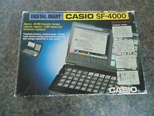CASIO LCD DIGITAL DIARY SF-4000 COMPLETE IN BOX FULLY WORKING 1980's RETRO