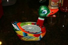 Vintage Daiya 1950's Colorful Tin Litho Friction Tin Toy Duck Made in Japan VG