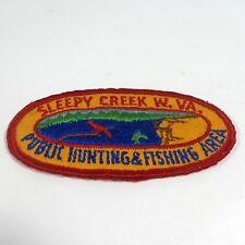 Sleepy Creek W. Virginia WV Public Hunting & Fishing Area Oval 4x2 Cloth Patch