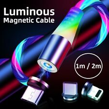 LED Flowing Light Magnetic Fast Charging Cable for iPhone/Samsung🇬🇧