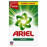Ariel Original Biological Washing Laundry Detergent Cleaning Powder - 65 Washes