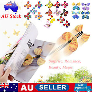 10x Gift Magic Flying Butterfly Toy Anniversary Greeting Card Birthday Wedding ~