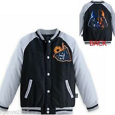 Disney Star Wars Darth Vader Varsity Jacket childs Size 4 New NWT