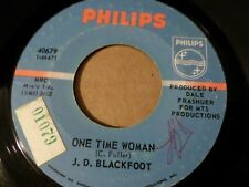 """J. D. BLACKFOOT – ONE TIME WOMAN /I'VE NEVER Orig Philips 7"""" US PSYCH HARD ROCK"""