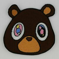 Square Printed Patch Kid Cudi Kanye Kids See Ghosts Sew On Badge in 3 sizes