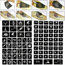 99Pcs Tattoo Glitter Stencils Girl Princess Body Dance Art Airbrush Painting Kit