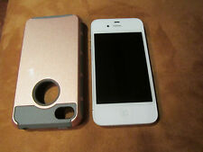 APPLE IPHONE 4S AT&T CELL PHONE, WHITE, MAGNETIC BACK, PRISTINE MINT!