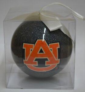 Auburn Tigers Glitter Ball Christmas Ornament