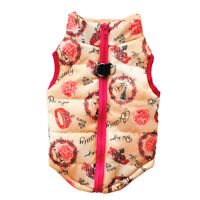 Cute Pet Puppy Cat Padded Vest Coat Small Dog Warm Costume Apparel Clothes XS-L