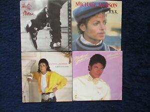 4 x Singles - Michael Jackson - Dirty Diana  / Thriller / P.Y.T.  + 1 - Sammlung
