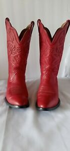 Women's Red Western Boots Ariat International Leather Boots