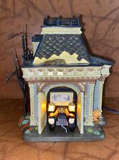 Department 56 Halloween Grimsley's Garage Lit Building