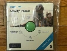 Poof Pea Activity Tracker, green, cat/dog, monitors sleep and activity, new
