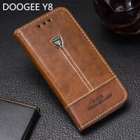 Luxury Flip Wallet Pu Leather Card Holder Phone Case Back Cover For DOOGEE Y8