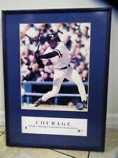 New York Yankees Official MLB Hologram Bernie Williams Framed Photo12x16 Vintage