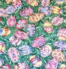 Longaberger Small Over the Edge Recipe Liner ~ Easter Egg Fabric ~