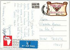 SIERRA LEONE - POSTAL HISTORY: Self Adhesive stamps on  POSTCARD  1969 - BIRDS