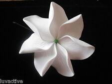 """4"""" TAHITIAN GARDENIA Tiare 7 Petal FLOWER Hair PICK"""