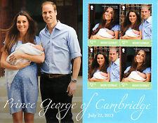 Montserrat 2013 MNH Birth Prince George Royal Baby 4v M/S William Kate Stamps