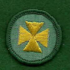 VINTAGE GIRL SCOUT BADGE HEALTH AID - GAUZE BACK - FREE SHIPPING