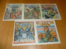 2000 AD Comic - 5 PROG JOB LOT - Progs 410 too 414 Inclusive - UK Paper Comic