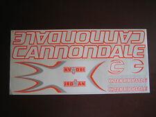 Cannondale Stickers  Set  White, Orange & Silver.