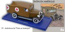 L'Ambulance de Chicago de Tintin en Amérique. #51 Voitures Atlas. Moulinsart.