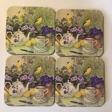 These Longaberger Coasters Are Beautiful With Flowers All Around.