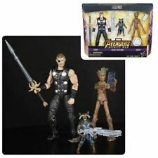 Entertainment Earth Marvel Legends Series Thor Rocket and Groot Action Figures