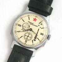 POBEDA Yuri Gagarin 1st Astronaut Vintage Soviet Russian Mens Watch Space USSR