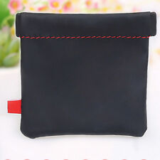 2pcs Soft pu leather earphone earbud bluetooth headset storage bag case cover Xr