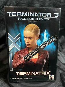 "GENTLE GIANT TERMINATOR 3 RISE OF THE MACHINES ""TERMINATRIX T-X BUST"" STATUE"