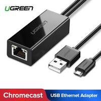 Ugreen Micro USB zu RJ45 LAN Netzwerkkarten Ethernet Adapter für TV Stick