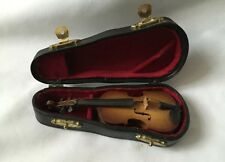 Collectable Miniature  Guitar  & Carrying Leather Case