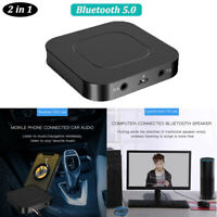 AU_ 2 IN 1 Bluetooth 5.0 Wireless Audio Aux Transmitter & Receiver 3.5mm Adapter