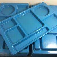 19 Blue Cambro Camwear School Senior Cafeteria Lunch Trays 915CW Polycarb - USA