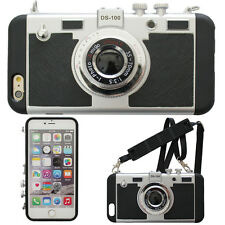 VINTAGE ANALOG CAMERA 3D NOVELTY 2 IN 1 FOR IPHONE 7 PLUS CASE STRAP LCC075
