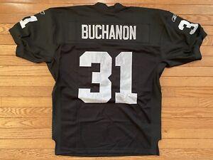 Reebok Authentic Ray Buchanan Oakland Las Vegas Raiders Jersey Size 48 New Tags