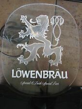 Lowenbrau Light Up Beer Advertising Sign Lucite Elec/Works Miller Brewing Co.