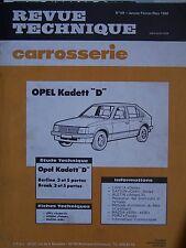 RTA REVUE TECHNIQUE SERVICE CARROSSERIE OPEL KADETT D N° 69 1980