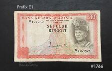 Malaysia - 3rd $10 ( prefix E1   )  |  VF