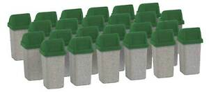 Walthers HO Scale Scenery Kit Modern Garbage Cans with Lids (24-Pack)
