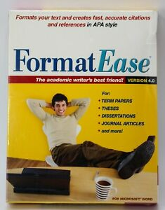 2007 FormatEase Version 4.0 Paper and Reference Formatting Software For MS Word