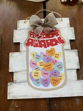 Valentines Day Candy Conversation Heart Sign Wall Hang