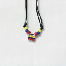 Venezuela Country Flag Small Metal Necklace Choker . New