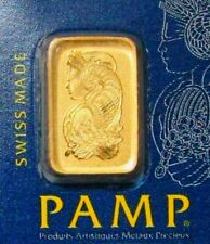 PAMP SUISSE GOLD 1 GRAM FORTUNA BAR SEALED NEW WITH ASSAY CERTIFICATE