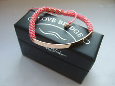New Thomas Sabo 18ct rose gold plated pink Love Bridge bracelet RRP £160