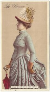 Fashionable Ladies' Hats for Spring-Summer 1886 Oversize Advertising Trade Card