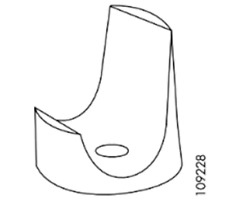 4x IKEA JULES Visitor Chair Mounting Bracket Support White Part #109228