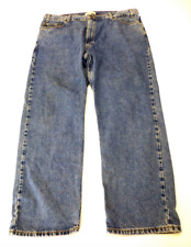 Levi Strauss Signature Mens Size 42X30 Regular Fit Blue Jeans Great Condition